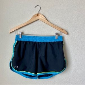 Under Armour Semi Fitted Active Blue Shorts Small